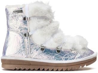 Les Tropéziennes Iridescent Fur Lined Boots