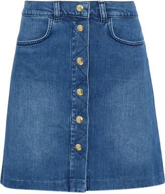 Frame Claire Faded Denim Skirt