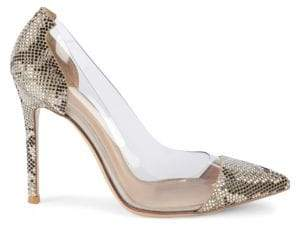 Gianvito Rossi Textured Point-Toe Pumps