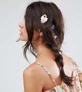 Asos Pack Of 6 Assorted Flower Hair Clips
