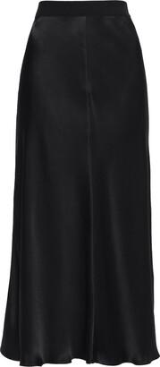 By Malene Birger Fluted Satin-crepe Midi Skirt