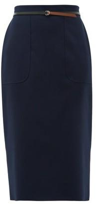 Altuzarra Casey Wool-blend Pencil Skirt - Blue
