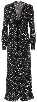 Miu Miu Star-printed silk maxi dress