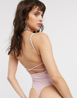 Free People Basique strappy jersey bodysuit