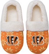 Unbranded Women's Cincinnati Bengals Ugly Knit Moccasin Slippers