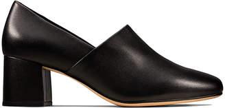 Clarks Women's Pumps Black - Black Sheer Lily Leather Pump - Women