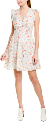 Rebecca Taylor Kamea Silk-Blend A-Line Dress