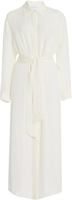 Croco Marie France Van Damme Silk-Jacquard Shirt Dress