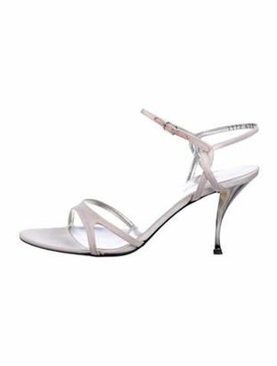 Dolce & Gabbana Satin Mid-Heel Sandals pink