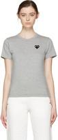 Comme des Garcons Grey Heart Patch T-Shirt