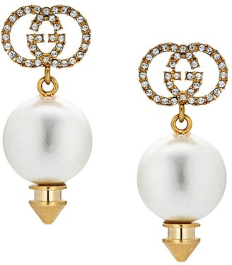 Gucci GG faux pearl earrings
