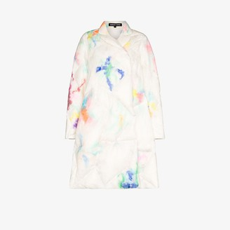 Susan Fang Padded Rainbow Feather Coat