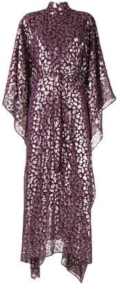Taller Marmo Foil-print kaftan dress