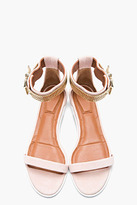 Givenchy Blush Suede Chain-Embellished Sandals