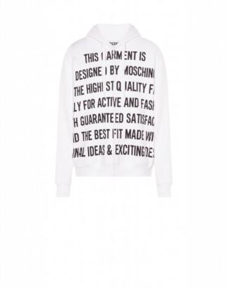 Moschino Cotton Sweatshirt Slogan Print