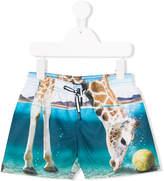 Molo giraffe-print swim shorts