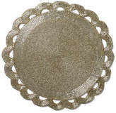 One Kings Lane Set of 2 Scallop Edge Place Mats - Silver