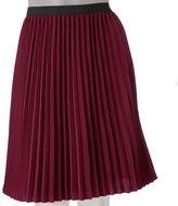 Ab studio solid pleated skirt