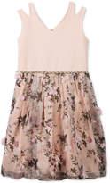 Speechless Scuba 3D Floral Dress, Big Girls
