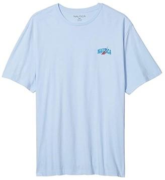 Nautica Big Tall Short Sleeve Sailor Print T-Shirt (Blue) Men's Clothing