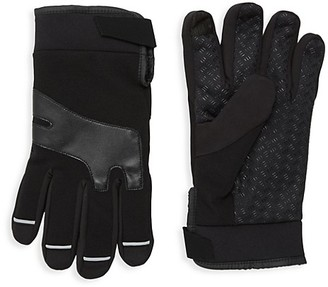 Saks Fifth Avenue Ribbed Fleece Gloves
