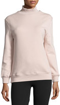 Varley Rochester Cutout-Back Mock-Neck Sweatshirt