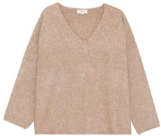 Grace & Mila - V Neck Knitted Sweater - S