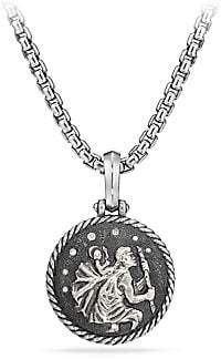 David Yurman Cable Collectibles St. Christopher Sterling Silver& Diamond Amulet