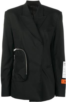 Heron Preston Tailored Wrap-Front Blazer
