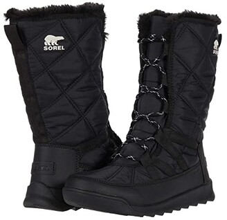 Sorel Whitneytm Tall Lace II (Black 1) Women's Cold Weather Boots