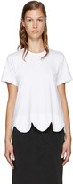 Comme des Garcons White Scalloped T-Shirt