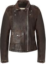 Golden Goose New Brown Vintage Leather Jacket