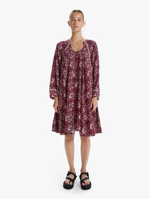 Natalie Martin Fiore Short Dress - Vintage Flowers Red