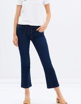 Frame Le Crop Mini Boot Lace Up Jeans