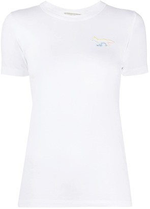 MAISON KITSUNÉ logo-embroidered crew neck T-shirt