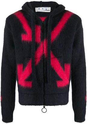Off-White Fuzzy Arrows zip hoodie