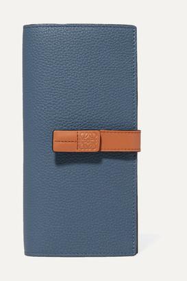 Loewe Textured-leather Wallet - Blue