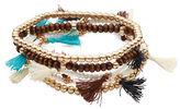 Design Lab Lord & Taylor Multi-Row Beaded Tassel Bracelet Set