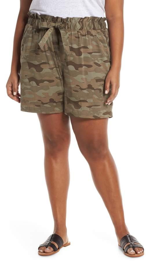 Camo Paperbag Waist Shorts