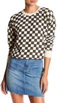 Mother The Shunken Easy Checkered Print Sweater
