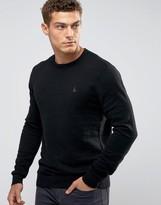 Jack Wills Seabourne Crew Sweater in Black