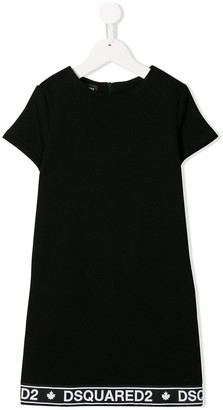 DSQUARED2 logo trim T-shirt dress