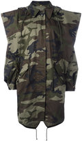 MM6 MAISON MARGIELA camouflage print coat