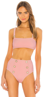Jonathan Simkhai Piped Luxe Strap Bikini Top