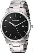 Wenger Men's 'City Classic' Swiss Quartz Stainless Steel Casual Watch, Color:Silver-Toned (Model: 01.1441.104)