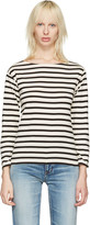 Saint Laurent White Striped Marlon T-Shirt
