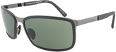 Prada Black & Green Rectangle Sunglasses