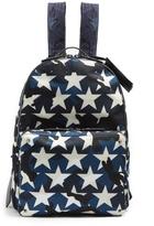 Valentino Camustars nylon and leather backpack