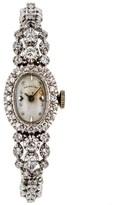 Hamilton 14K White Gold Diamond Bezel and Bracelet Watch 17mm