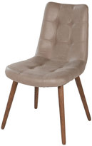 Joseph Allen Alamo Grey Tufted Leather Dining Chair